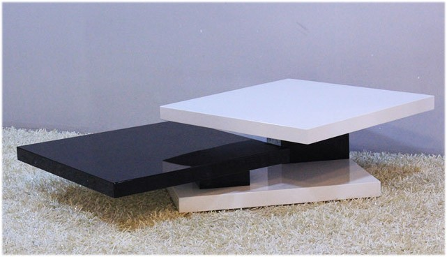 Coffee Table Extendable.Gloss White Black Coffee Table Extendable